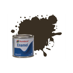 Humbrol 50ml Enamel Paint Tinlet - No 10 Service Brown Gloss Model Kit Paint