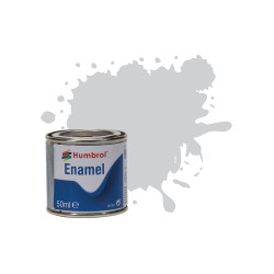 Humbrol 50ml Enamel Paint Tinlet - No 11 Silver Metallic Model Kit Paint