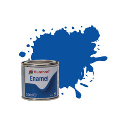 Humbrol 50ml Enamel Paint Tinlet - No 14 French Blue Gloss Model Kit Paint