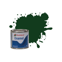 Humbrol 50ml Enamel Paint Tinlet - No 3 Brunswick Green Gloss Model Kit Paint