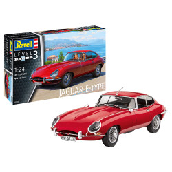 Revell 07668 Jaguar E-Type Coupe 1:24 Plastic Model Car Kit