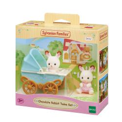 Sylvanian Families 5432 Chocolate Rabbit Twins Set