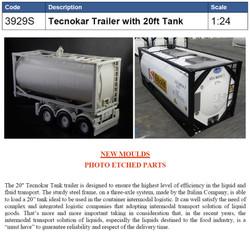 ITALERI Tecnokar Trailer with 20ft Tank 3929 1:24 Truck Model Kit