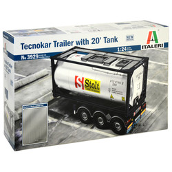 ITALERI Tecnokar Trailer with 20ft Tank 3929 1:24 Truck Model Kit