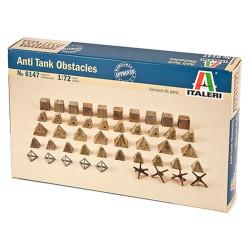 Italeri 6147 Antitank Obstacles 1:72 Plastic Model Kit