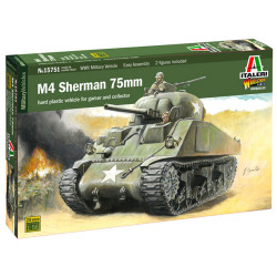Italeri W15751 M4 Sherman 75mm 1:56 Plastic Model Kit
