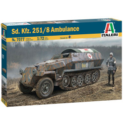 Italeri 7077 Sd Kfz 251/8 Ambulance 1:72 Plastic Model Kit