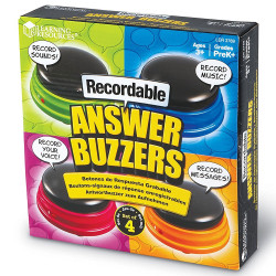 Learning Resources Recordable Answer Buzzers Set of 4 - LER3769