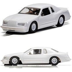 Scalextric Digital Slot Car C4077 Ford Thunderbird - White