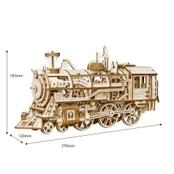 ROKR Locomotive Mechanical Wooden Model Kit LK701