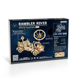 ROKR Rambler Rover Solar Power Car Mechanical Wooden Model Kit LS401