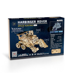 ROKR Harbinger Rover Solar Power Car Mechanical Wooden Model Kit LS402