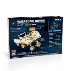 ROKR Vagabond Rover Solar Power Car Mechanical Wooden Model Kit LS503