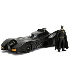 Jada Hollywood Rides 1989 Batman Batmobile & Figure 1:24 Diecast Model Car