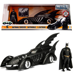 Jada Diecast 1995 Batman Forever Batmobile & Figure 1:24 Model Car