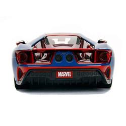 Jada Hollywood Rides Marvel Spiderman 2017 Ford GT 1:24 Diecast Model Car