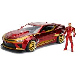 Jada Hollywood Rides Marvel Ironman 2016 Chevy Camaro SS 1:24 Diecast Model Car