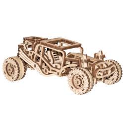Wooden City Buggy Mechanical Wooden Model Kit 137pcs WR336