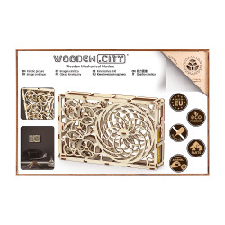 Wooden City Kinetic picture Mechanical Wooden Model Kit 185pcs WR308