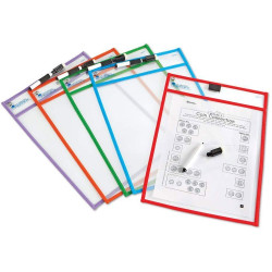 Learning Resources Wipe Clean Pockets Write And Wipe - Pack of 5