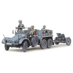 TAMIYA 35259 Krupp Towing Truck w/37mm Pak 1:35 Military Model Kit