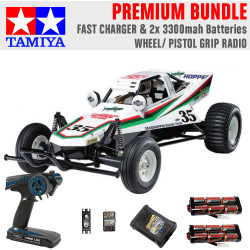 TAMIYA RC 58346 The Grasshopper off-road buggy 1:10 Premium Wheel Radio Bundle