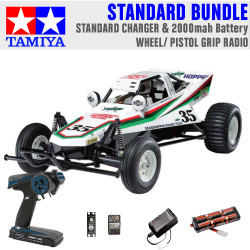 TAMIYA RC 58346 The Grasshopper off-road buggy 1:10 Standard Wheel Radio Bundle