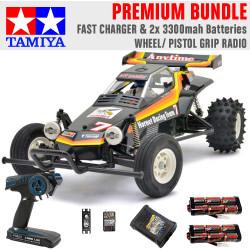 TAMIYA RC 58336 The Hornet 2004 1:10 Premium Wheel Radio Bundle
