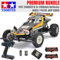 TAMIYA RC 58336 The Hornet 2004 1:10 Premium Wheel Radio Bundle