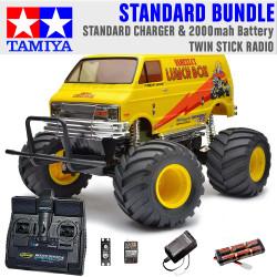 TAMIYA RC 58347 Lunch Box 2005 Monster Truck 1:12 Standard Stick Radio Bundle