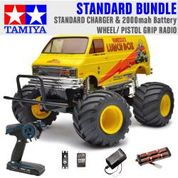 TAMIYA RC 58347 Lunch Box 2005 Monster Truck 1:12 Standard Wheel Radio Bundle