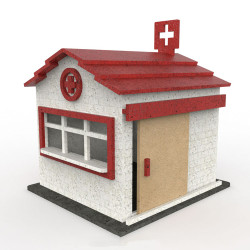 ProScale Hobbies First Aid Hut MDF Kit 1:32 Slot Racing Accessories