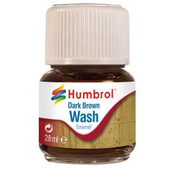 HUMBROL AV0205 Enamel Wash Dark Brown 28ml