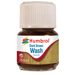 HUMBROL AV0205 Enamel Wash Dark Brown 28ml