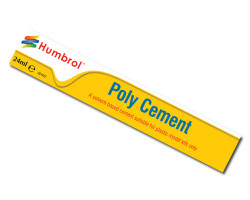 HUMBROL Poly Cement Large 24ml Tube Adhesive Glue