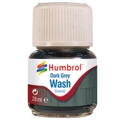 HUMBROL AV0204 Enamel Wash Dark Grey 28ml
