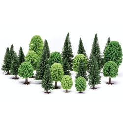 Hornby Scalextric Scenic Materials R7201 Mixed Deciduous and Fir Trees