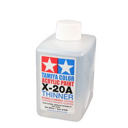 TAMIYA 81040 Acrylic Poly Thinners X20-a 250ml