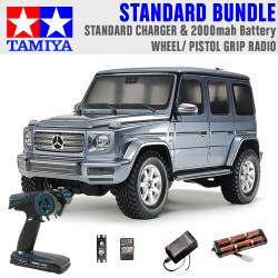 TAMIYA RC 58675 Mercedes-Benz G500 CC-02 1:10 Standard Wheel Radio Bundle