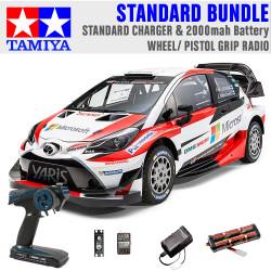 TAMIYA RC 58659 Toyota Yaris Gazoo Racing TT-02 1:10 Standard Wheel Radio Bundle