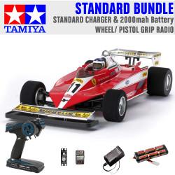 TAMIYA RC 47374 Ferrari 312T3 (F104W) 1:10 Standard Wheel Radio Bundle