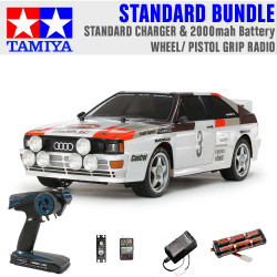TAMIYA RC 58667 Audi Quattro A2 Rally (TT-02) 1:10 Standard Wheel Radio Bundle