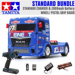 TAMIYA RC 58642 Team Reinert Racing MAN TT-01E 1:10 Standard Wheel Radio Bundle