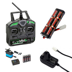 RC Car Stick Radio, 2000mah Battery & Charger Combo - Perfect for Tamiya RC