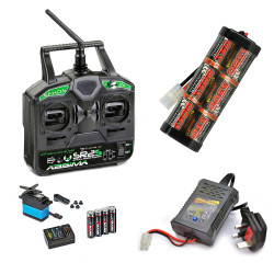 RC Car Stick Radio, 3300mah Battery & Fast Charger Combo - Perfect for Tamiya RC