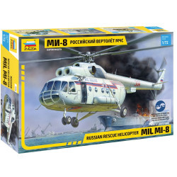 Zvezda Z7254 Mil Mi8 Rescue Helicopter 1:72 Plastic Model Kit