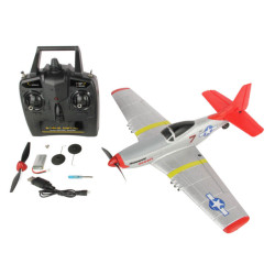 Sonik P-51 Mustang 400 Ready to Fly 4-Channel with Flight Stabilisation RC Plane