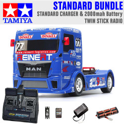TAMIYA RC 58642 Team Reinert Racing MAN TT-01E 1:10 Standard Stick Radio Bundle