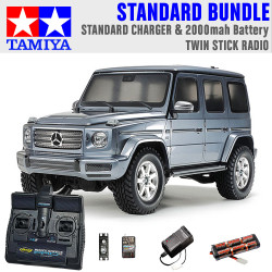 TAMIYA RC 58675 Mercedes-Benz G500 CC-02 1:10 Standard Stick Radio Bundle