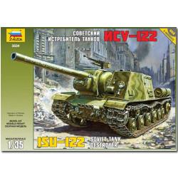 ZVEZDA 3534 ISU-122 Soviet Tank Destroyer 1:35 Military Model Kit